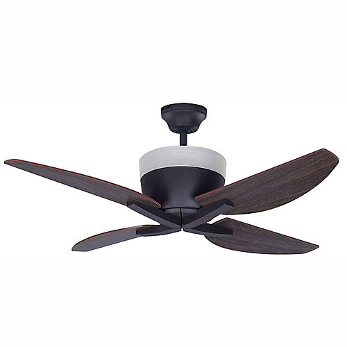 "Ventilateur 42"" Bronze Huilé Summit, 4 Ampoules 5W Type C Incluses"