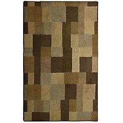 Lanart Rug Highlands Brown 9 ft. x 12 ft. Indoor Contemporary Rectangular Area Rug
