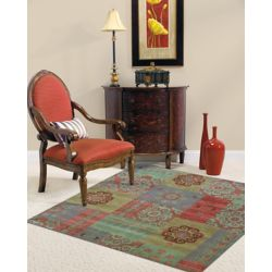 Lanart Rug Gem Gypsy Green 8 ft. x 8 ft. Indoor Contemporary Square Area Rug