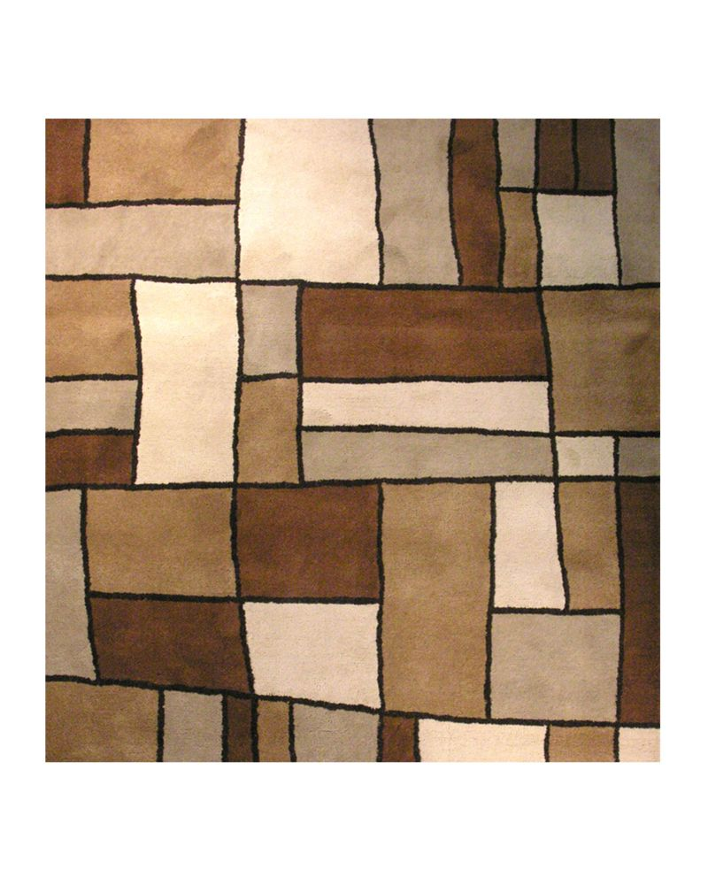 Brown Picasso 5 Ft. x 5 Ft. Area Rug