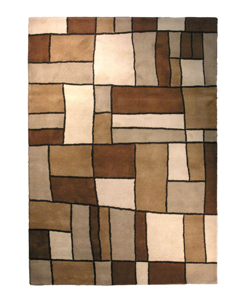 Brown Picasso 6 Ft. x 9 Ft. Area Rug