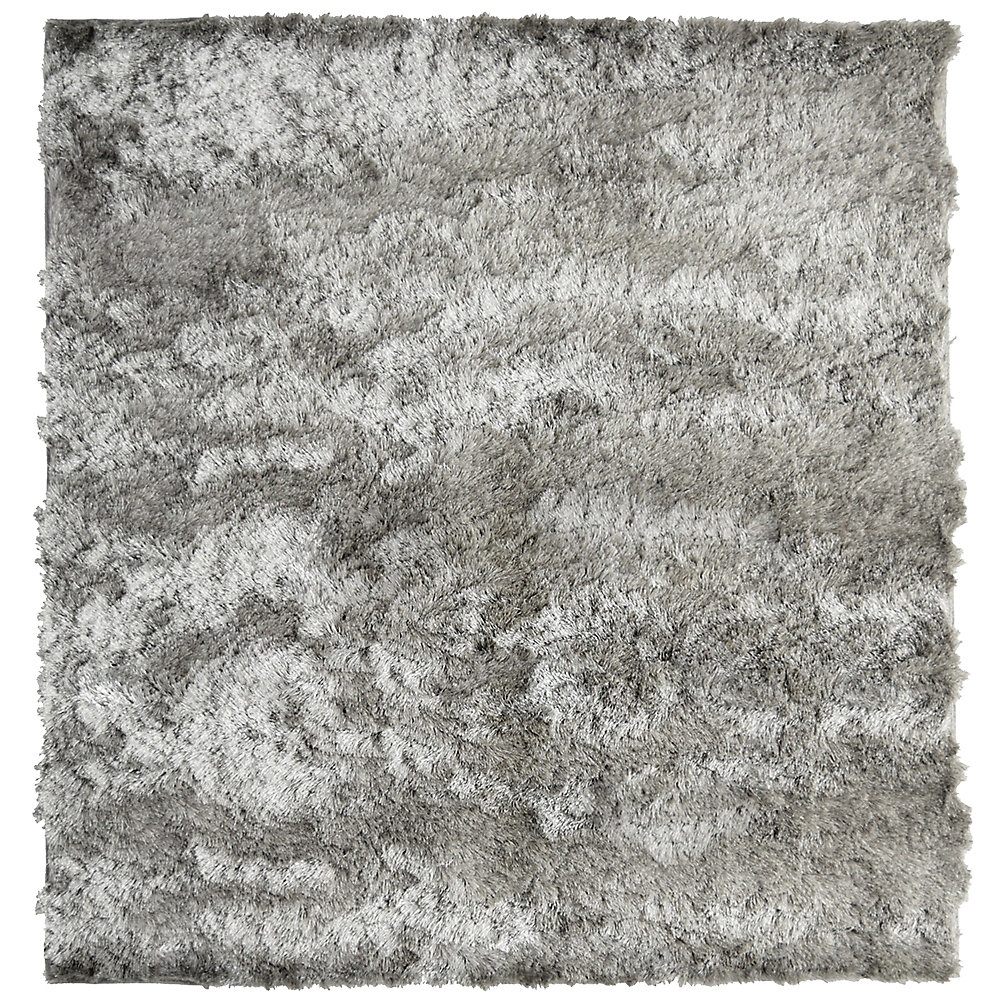 So Silky Grey 5 ft. x 5 ft. Indoor Shag Square Area Rug