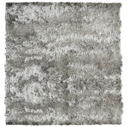 Lanart Rug So Silky Grey 5 ft. x 5 ft. Indoor Shag Square Area Rug