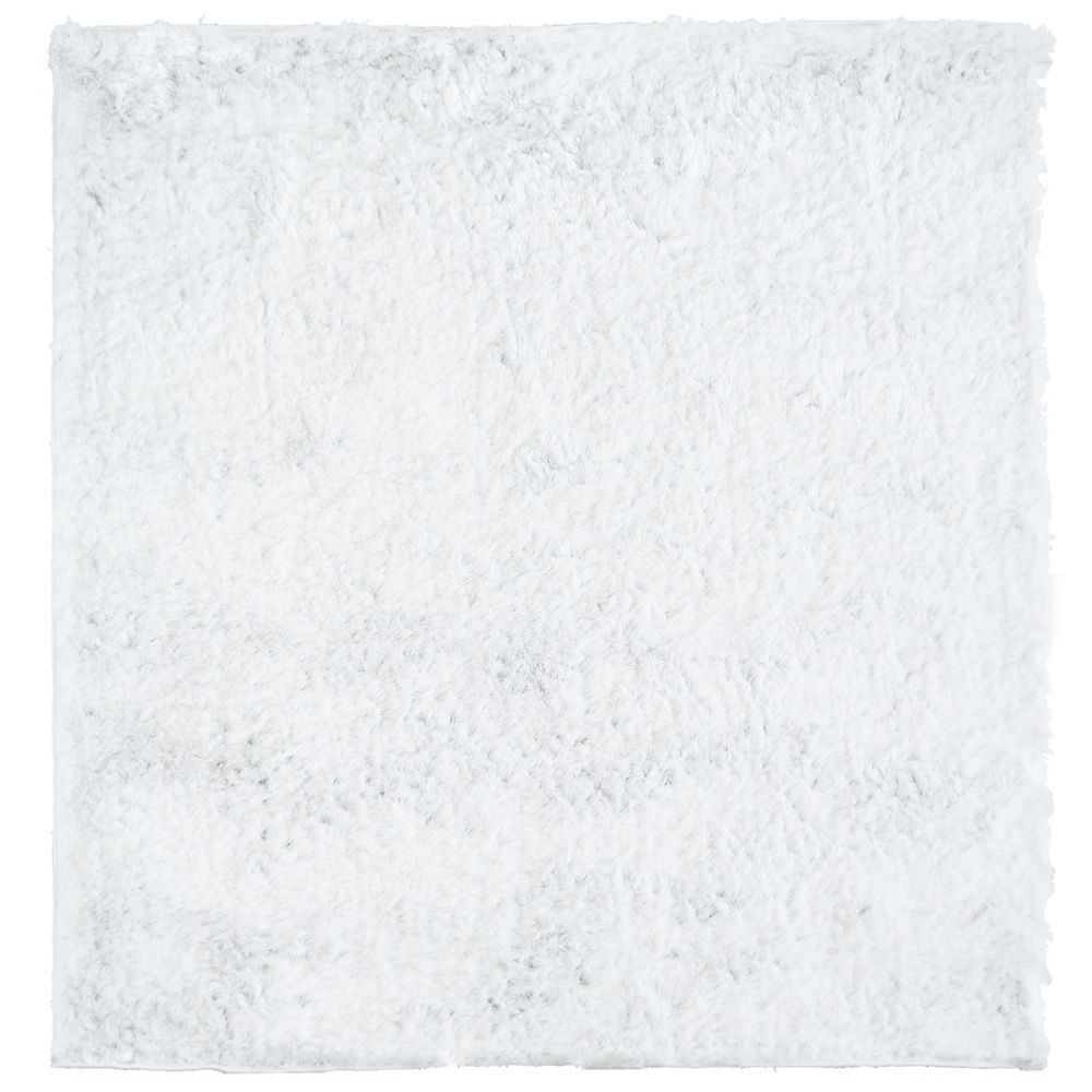 White So Silky 5 Ft. x 5 Ft. Area Rug