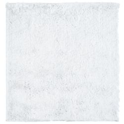 Lanart Rug So Silky White 5 ft. x 5 ft. Indoor Shag Square Area Rug