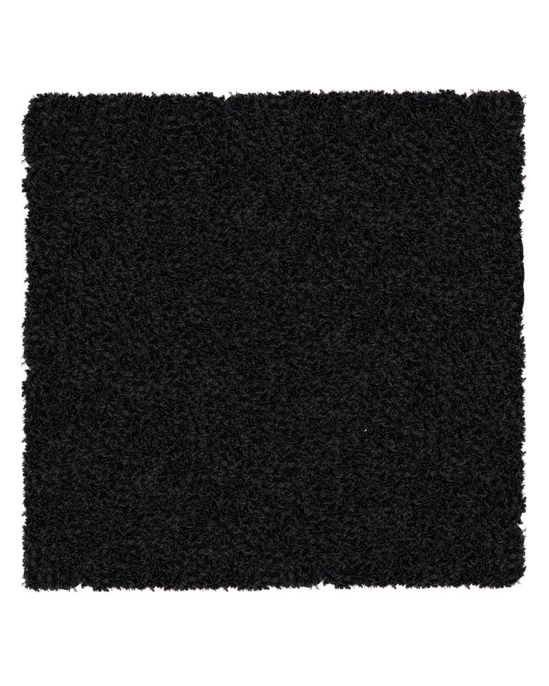 Black Shag-a-liscious Area Rug 5 Feet x 5 Feet