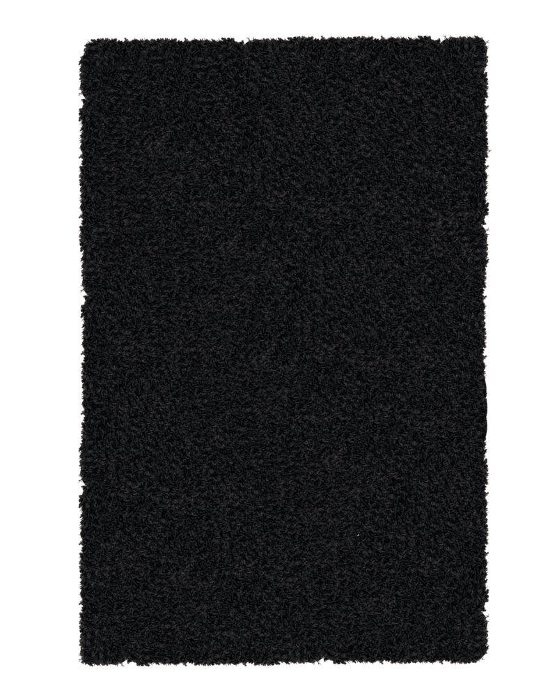 Noir Shag-a-liscious Tapis 5 Pieds x 7 Pieds