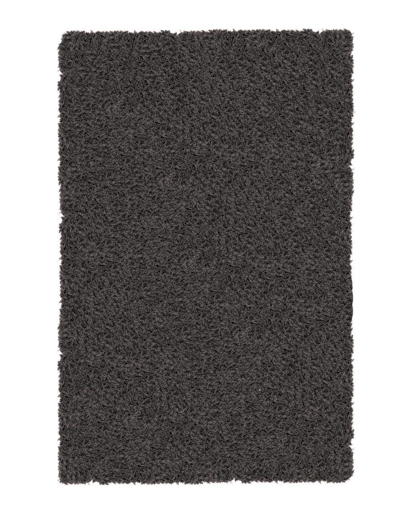 Charcoal Shag-a-liscious 4 Ft. x 6 Ft. Area Rug