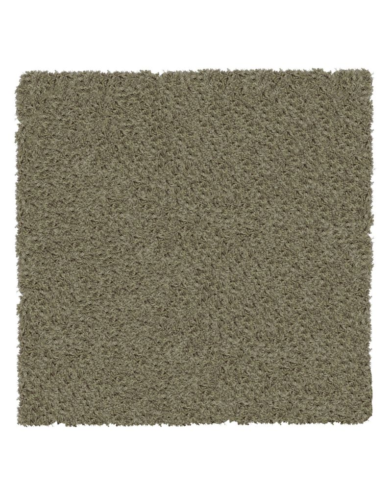 Taupe Shag-a-liscious 5 Ft. x 5 Ft. Area Rug