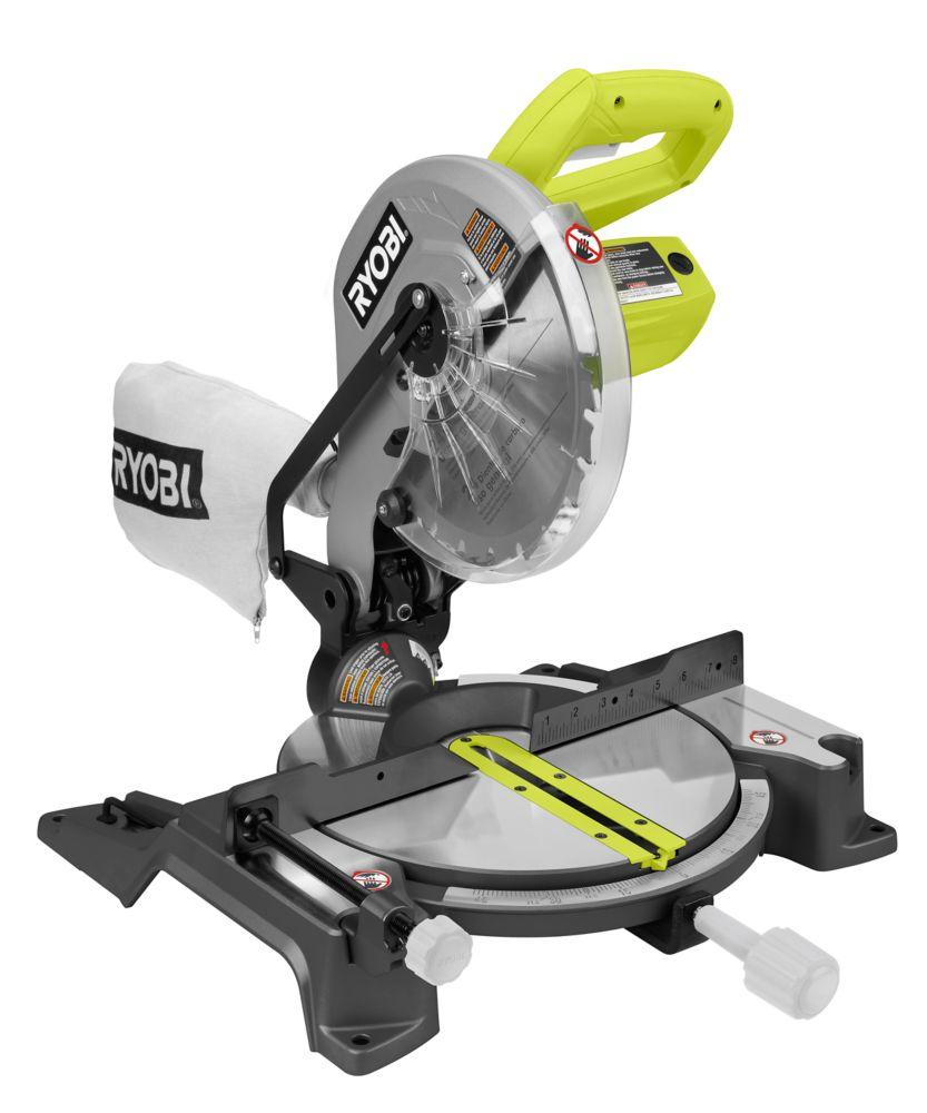 RYOBI  Scie à onglets avec laser Exactline et moteur 14 A, 10 po