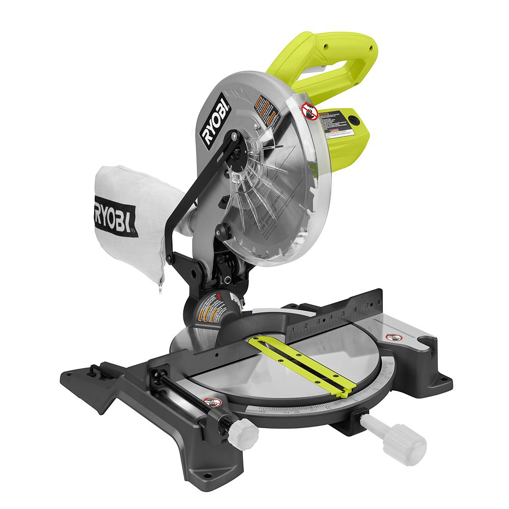 Ryobi 10 Inch Compound Miter Saw With Laser The Home Depot Canada