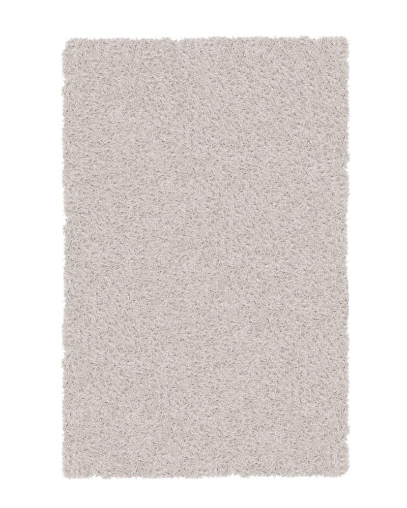White Shag-a-liscious 6 Ft. x 8 Ft. Area Rug