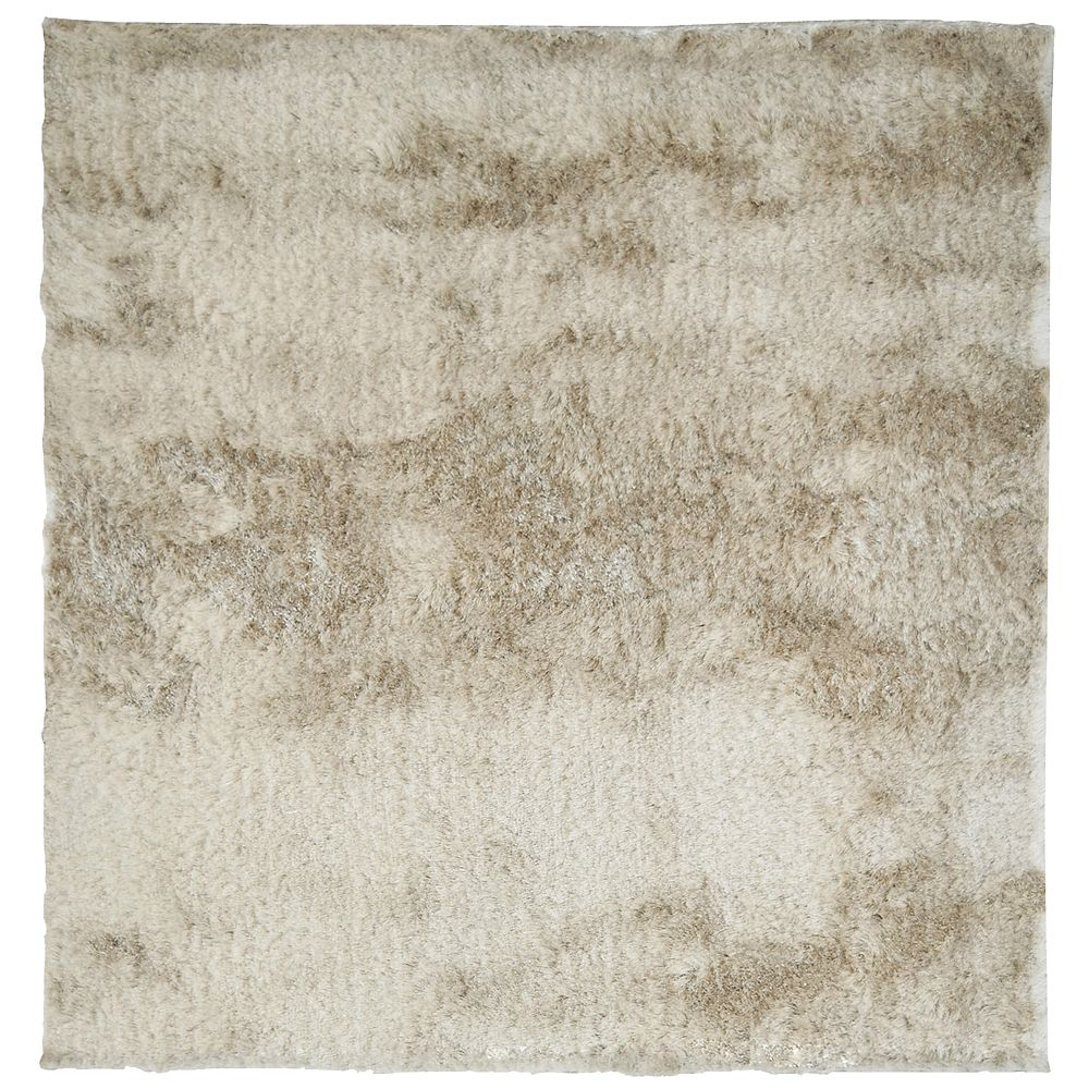 Beige So Silky 5 Ft. x 5 Ft. Area Rug SILKY5BG in Canada