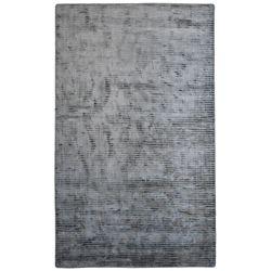 Lanart Rug Carpette d'intérieur, 5 pi x 5 pi, tissage texturé, carrée, gris Luminous