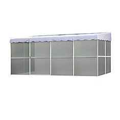 8 ft. 6-inch x 17 ft. 1-inch Screened Enclosure in White