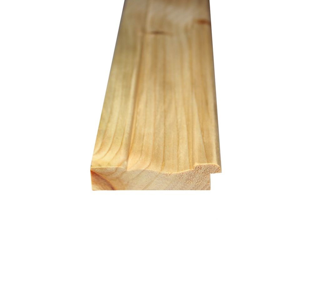 Alexandria Moulding Knotty Pine Wainscot Base 9/16 In. x 2-5/8 In. x 96 In.