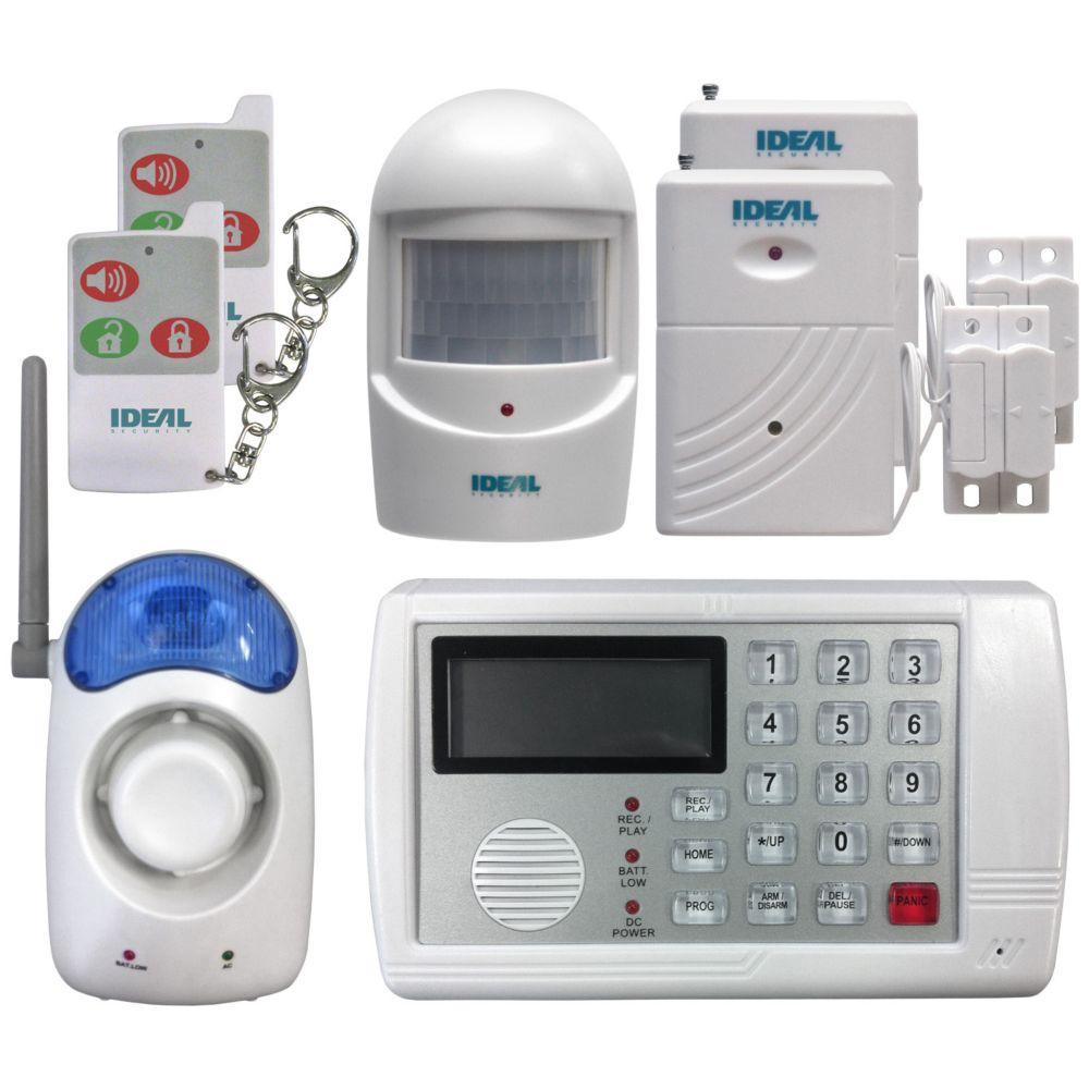 Système de securite sans fil avec avertisseur téléphonique
