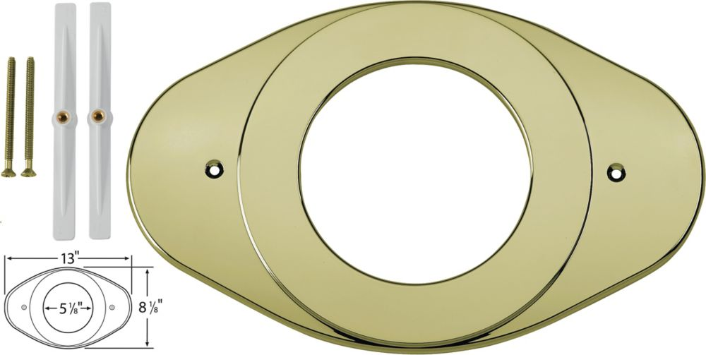 Renovation Cover Plate in Polished Brass