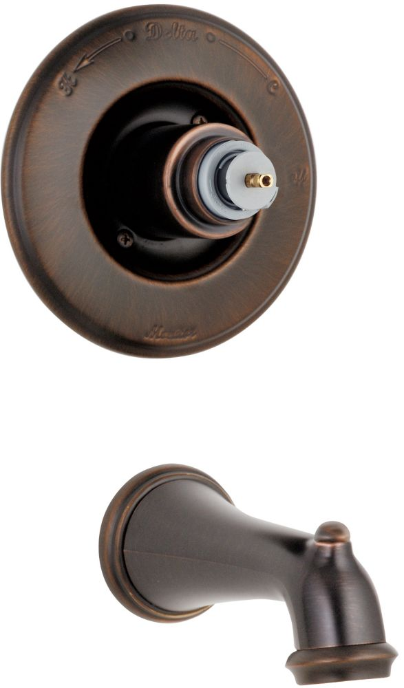 Victorian Pressure Balanced Tub Trim Kit in Venetian Bronze (Valve and Handles not included) T14155-RBLHP in Canada