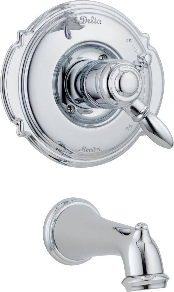 Victorian 1-Handle Tub Filler Faucet in Chrome Trim Kit Only (Valve not included)