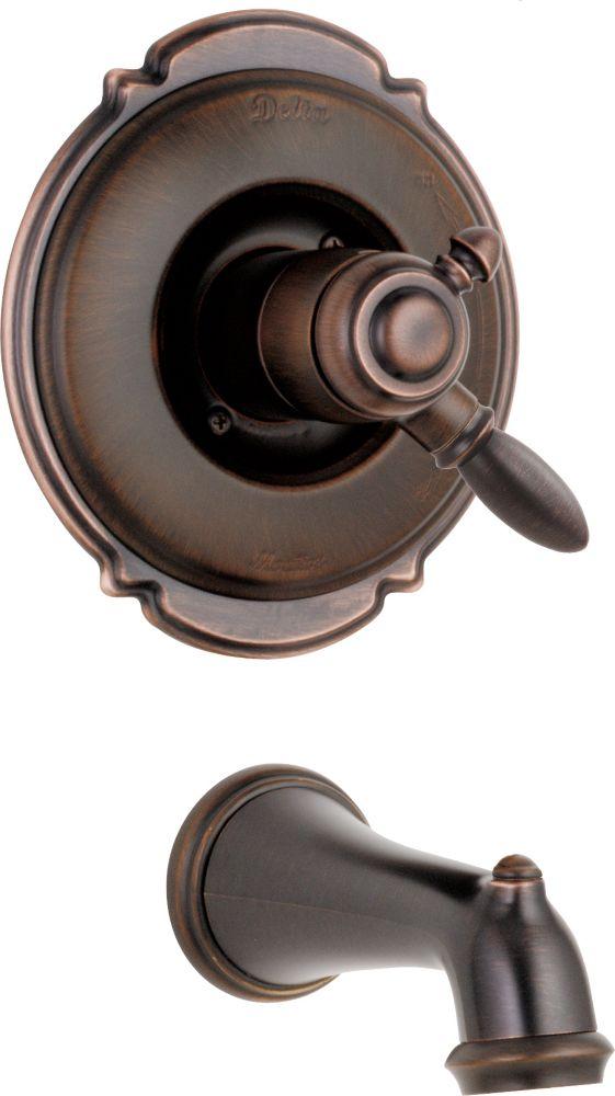 Victorian - Trousse de garniture de robinet à 2manettes, remplisseur de baignoire, Venetian Bron...