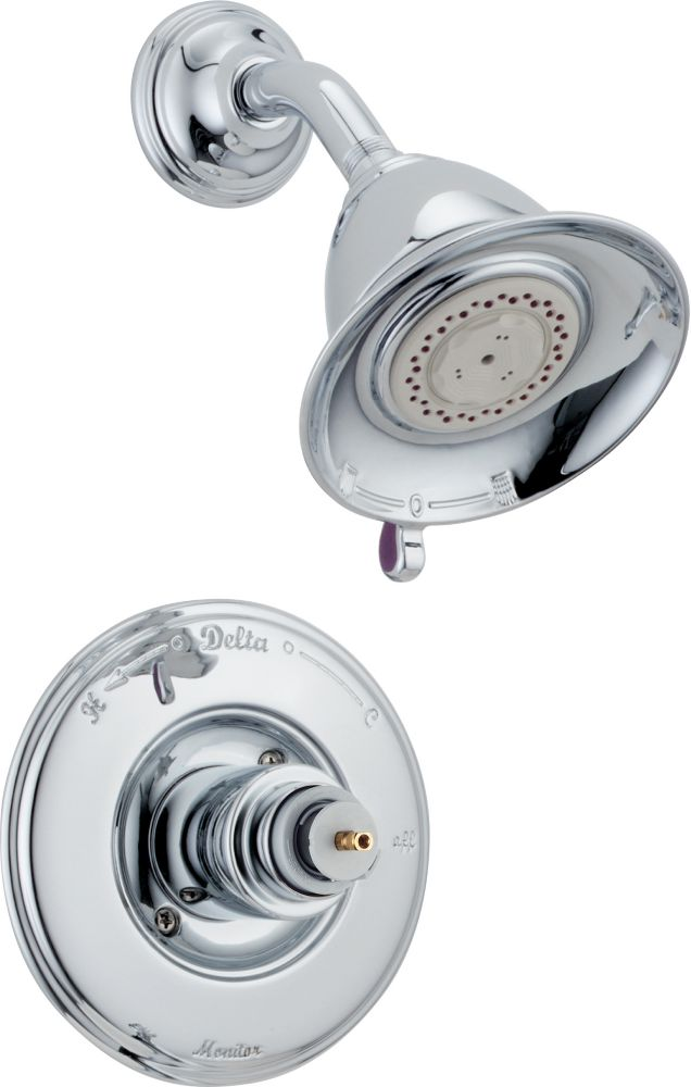 Victorian Collection Single-Handle Pressure-Balanced Shower Faucet in Chrome