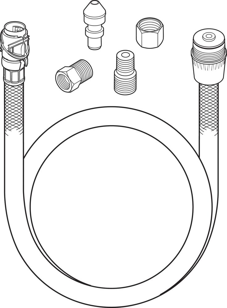 Tuyau souple Quick-Connect pour douchette latérale ou à légumes