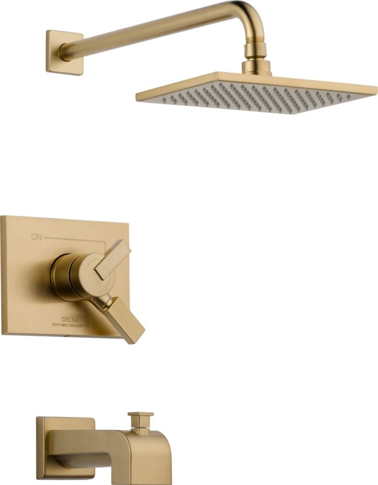 Vero Single-Handle Single-Function Bath/Shower Faucet with Raincan Showerhead in Champagne Bronze