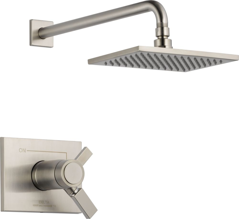 Vero Single-Handle Thermostatic Shower Faucet in Stainless Steel