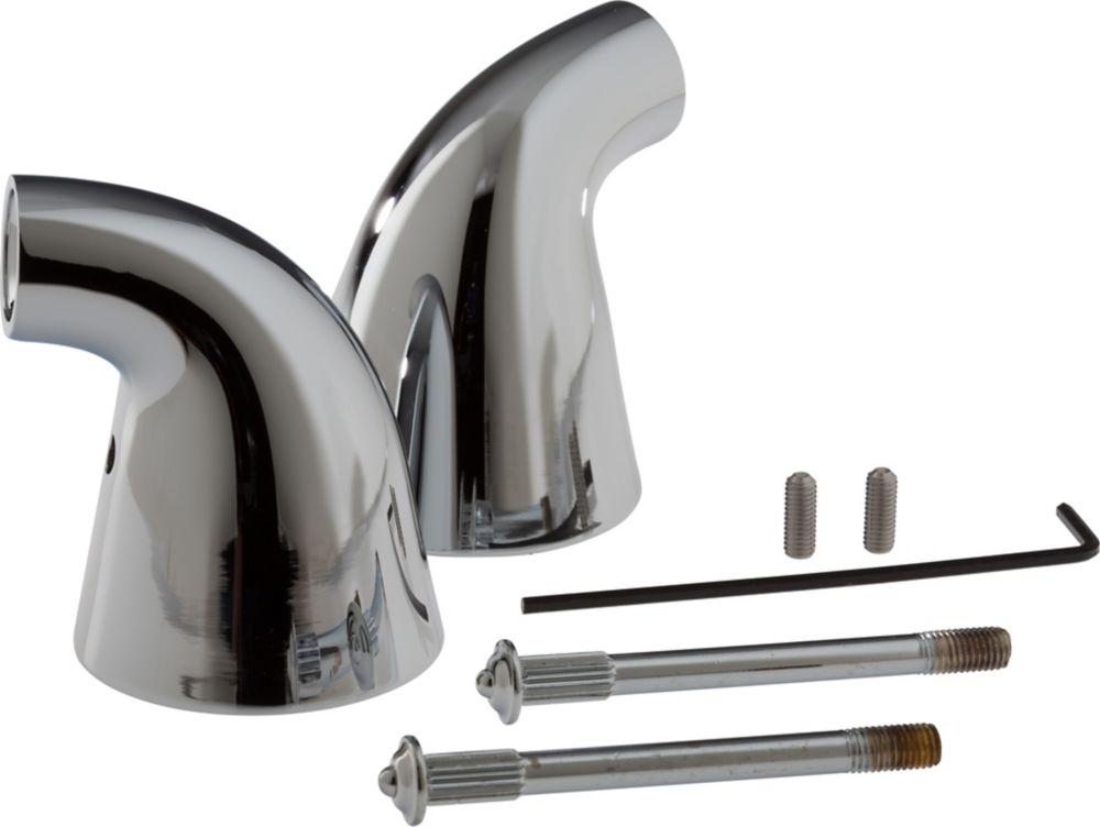 Innovations - Socle de deuxmanettes pour baignoire romaine, Chrome