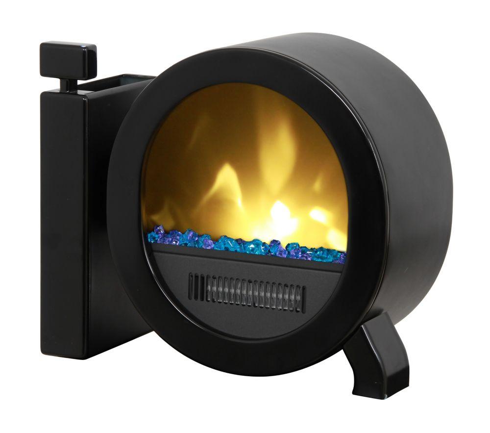 Personal Desktop Fireplace, Black