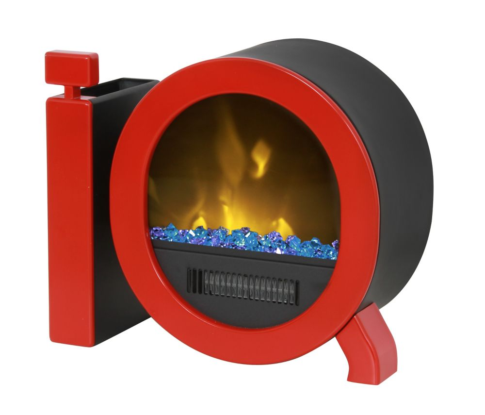 Personal Desktop Fireplace, Red