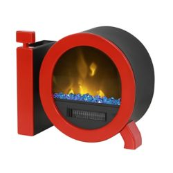 IQ Personal Desktop Fireplace, Red