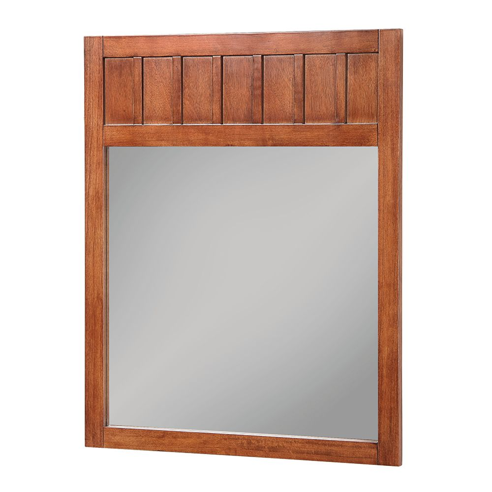 Knoxville 28 Inch W x 34 Inch H Wall Mirror in Nutmeg