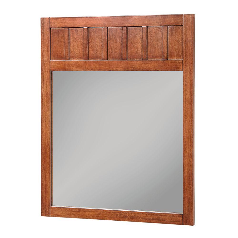 Miroir encadré Knoxville de 71,12cm (28po) L x 86,36 cm (34 po) H en muscade