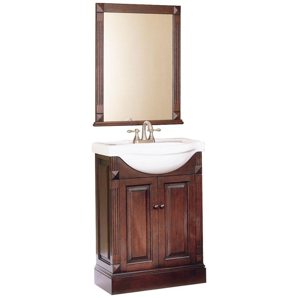 Salerno 24 po ensemble meuble-lavabo et miroir
