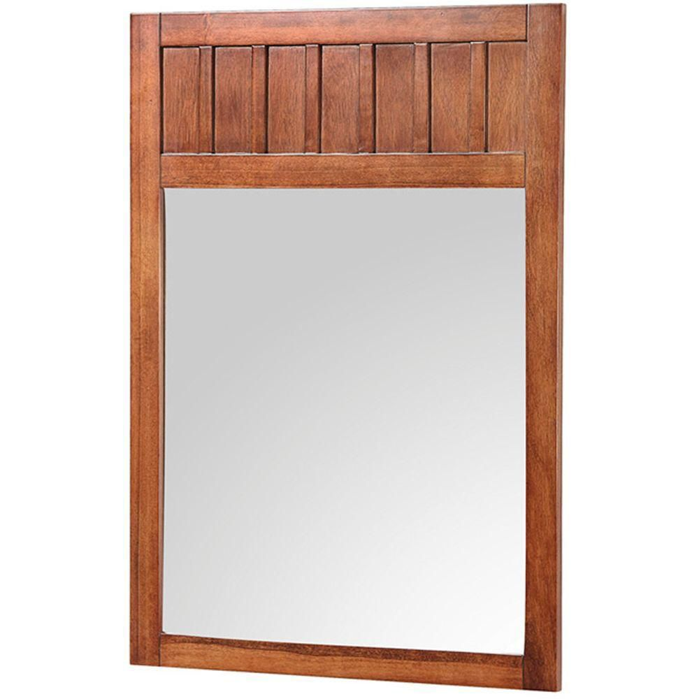 Knoxville 24 Inch W x 34 Inch H Framed Mirror in Nutmeg