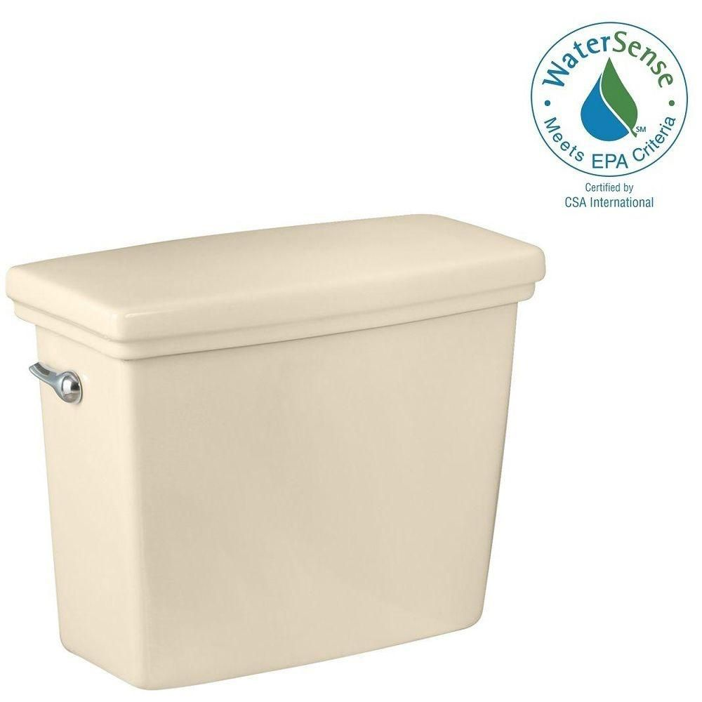 Structure Suite 1.28 GPF Single Flush Toilet Tank Only in Biscuit