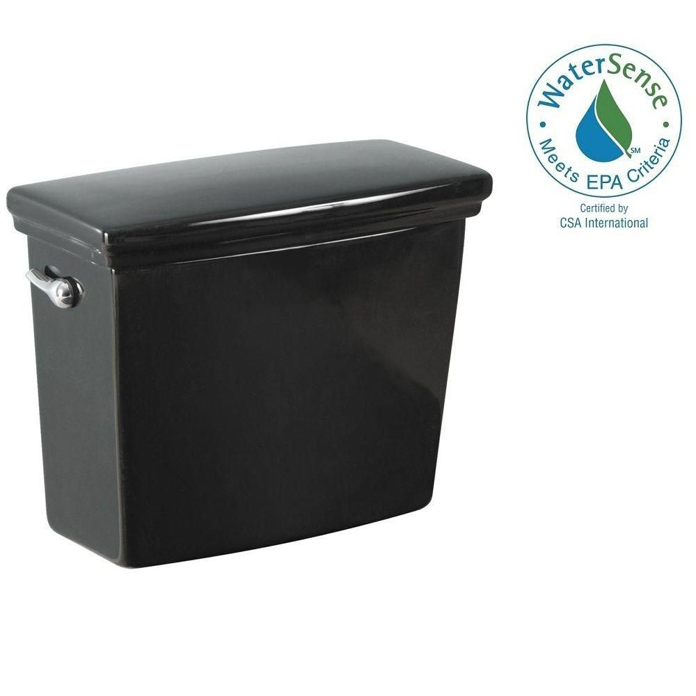Structure Suite 1.28 GPF Single Flush Toilet Tank Only in Black