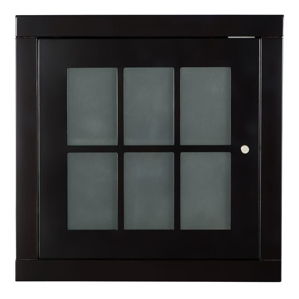 Zen Stackable Cube with Glass Door in Espresso