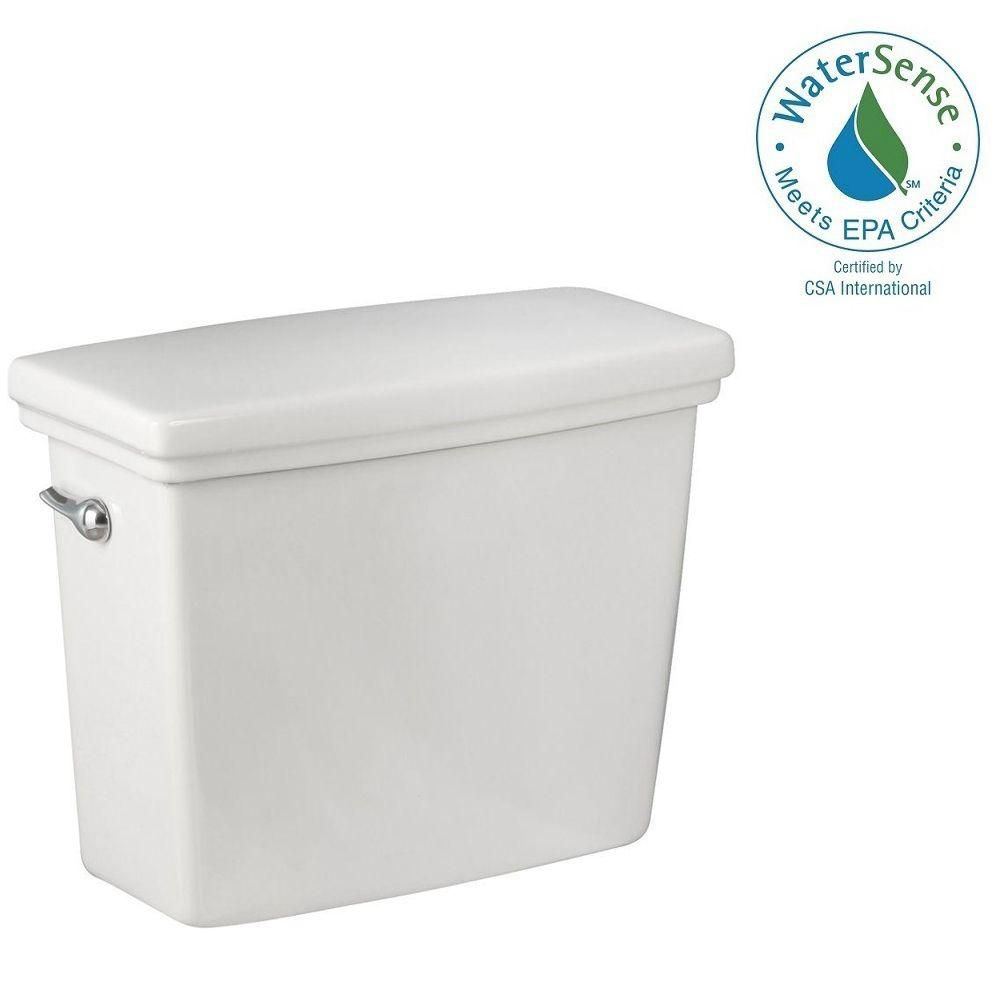 Structure Suite 1.28 GPF Single Flush Toilet Tank Only in White