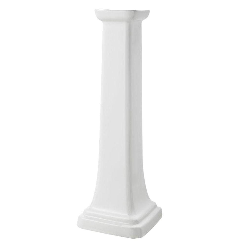 Series 1920 Petite Bathroom Sink Pedestal Leg in White