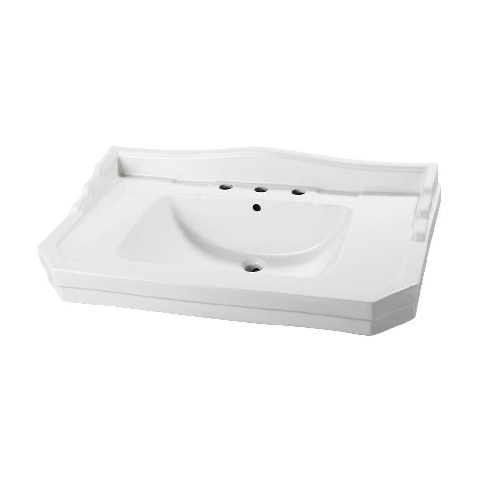 ... 1900 12-inch Pedestal Sink Basin in White The Home Depot Canada