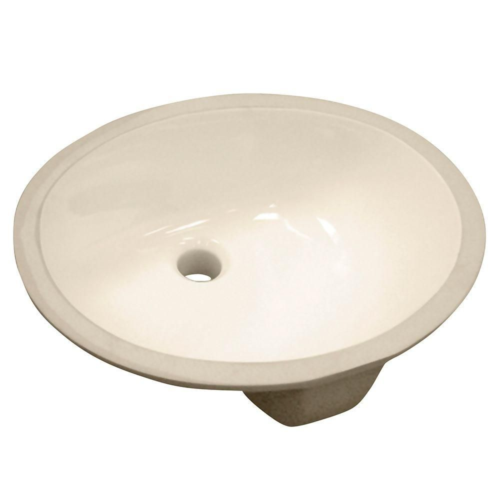 Foremost international oval undermount vitreous china for Bathroom undermount sinks