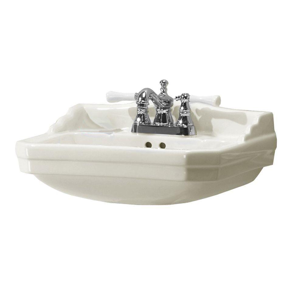Series 1920 Bathroom Pedestal Sink in Biscuit