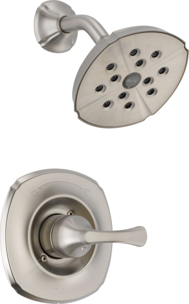 Addison Single-Handle Single-Function Shower Faucet with H2Okinetic in Stainless Steel