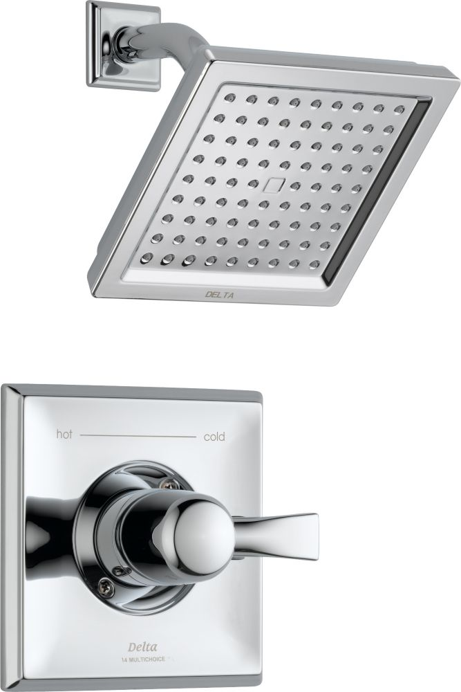 Dryden Single-Handle Single-Function Shower Faucet with Raincan Showerhead in Chrome