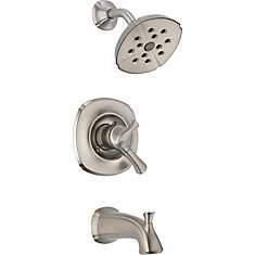 Addison 1-Spray Tub  Shower Faucet in Stainless Steel