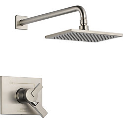 Vero 1-Spray Shower Faucet in Stainless Steel