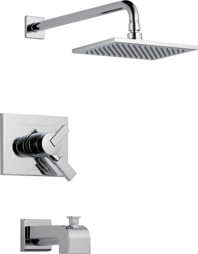Vero - Garniture pour mitigeur de douche et baignoire, 1jet, Chrome